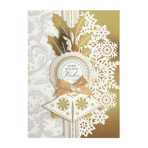 Gold Bells Boxed Christmas Cards  by ANNA GRIFFIN