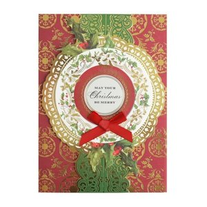 Wreath w/Red Ornament Boxed Christmas Cards  by ANNA GRIFFIN