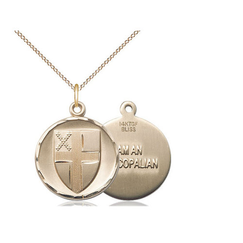 Bliss Episcopal Pendant, 14kt Gold Filled