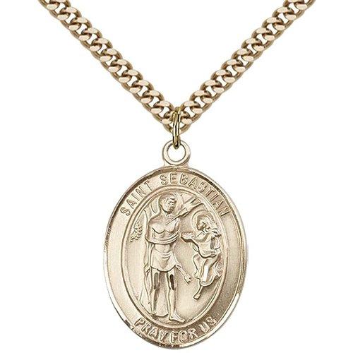 Bliss Saint Sebastian / Choir Pendant, 14kt Gold Filled