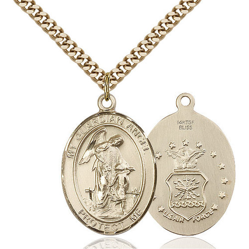Bliss Guardian Angel / Air Force Pendant, 14kt Gold Filled