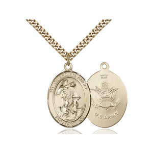 Bliss Guardian Angel / Army Pendant, 14kt Gold Filled