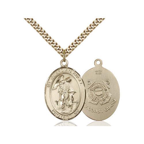 Bliss Guardian Angel / Coast Guard Pendant, 14kt Gold Filled