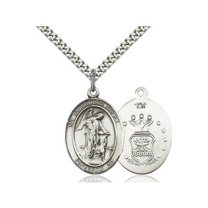 Bliss Guardian Angel / Air Force Pendant, Sterling Silver