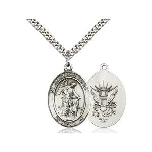 Bliss Guardian Angel / Navy Pendant, Sterling Silver