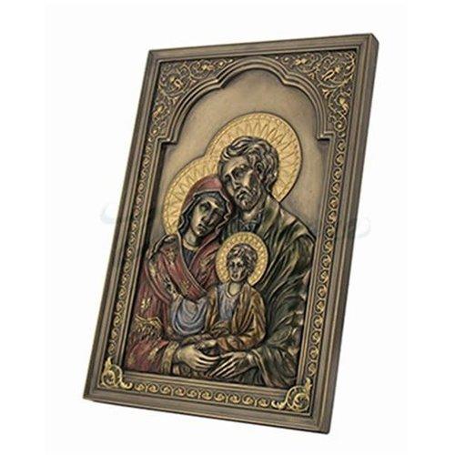Unicorn Iconic Style Holy Family Wall Plaque