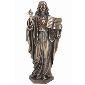 VERONESE Sacred Heart of Jesus with Old Testament Cold Cast Bronze Statue