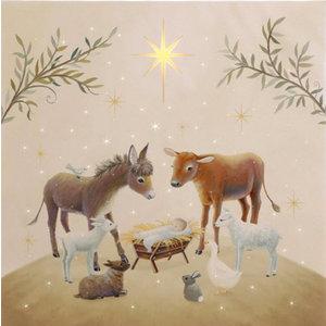 "RAZ Animals in the Manger - 14"" Lighted Print"