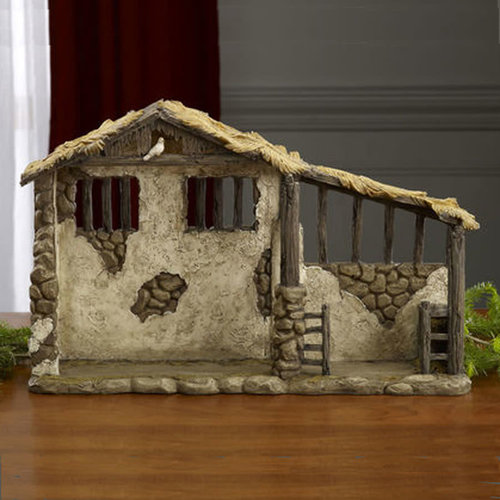 Three Kings Gifts LIGHTED STABLE FOR THE REAL LIFE NATIVITY