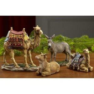Three Kings Gifts Real Life Nativity Set of 4 Animals