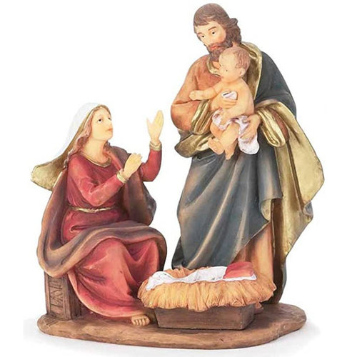 DICKSON GIFTS Holy Family Statue with Joseph Holding Jesus
