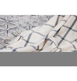 Foxford WHITE AND PEARL GREY HERRINGBONE