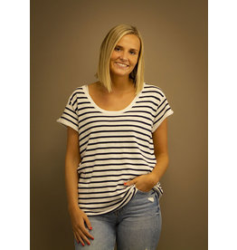 Whisper Striped Malibu Tee