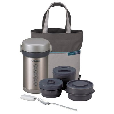Zojirushi Zojirushi - Ms Bento Stainless Insulated Thermos Lunch Jar Set - SL-NCE09