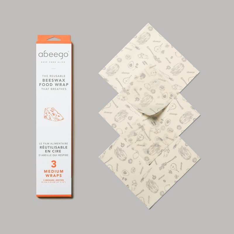 Abeego Abeego - Beeswax Food Wraps - Medium