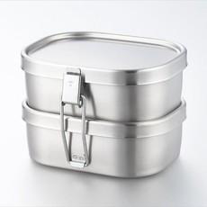 Aizawa Aizawa - Boîte à Bento Inox - 360ml x 2 Square