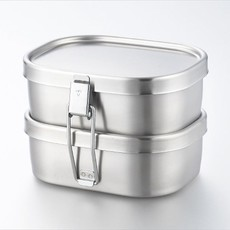 Aizawa Aizawa - Stainless Steel Bento Box - 360ml x 2 Square