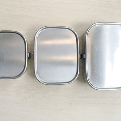 Aizawa Aizawa - Stainless Steel Bento Box - 670ml Square