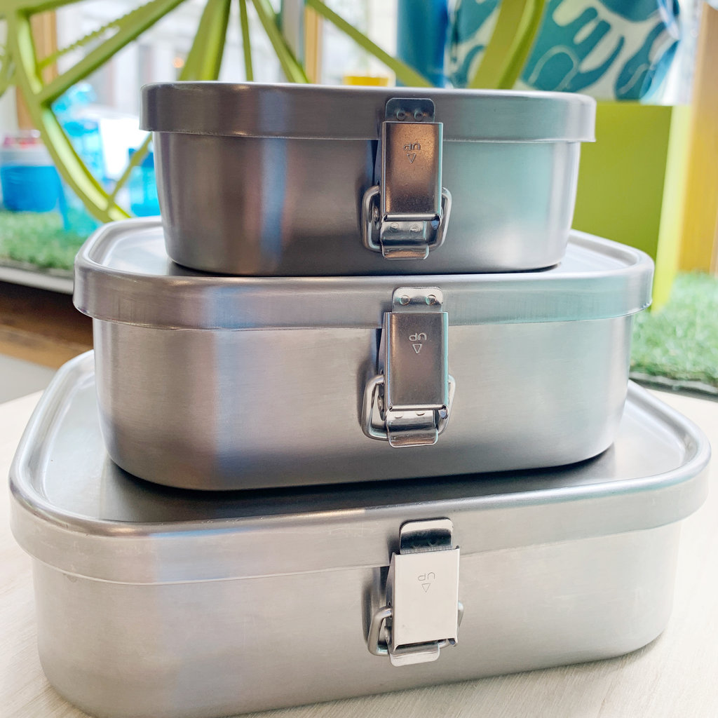 A - Stainless Steel Bento Box - 670ml Square