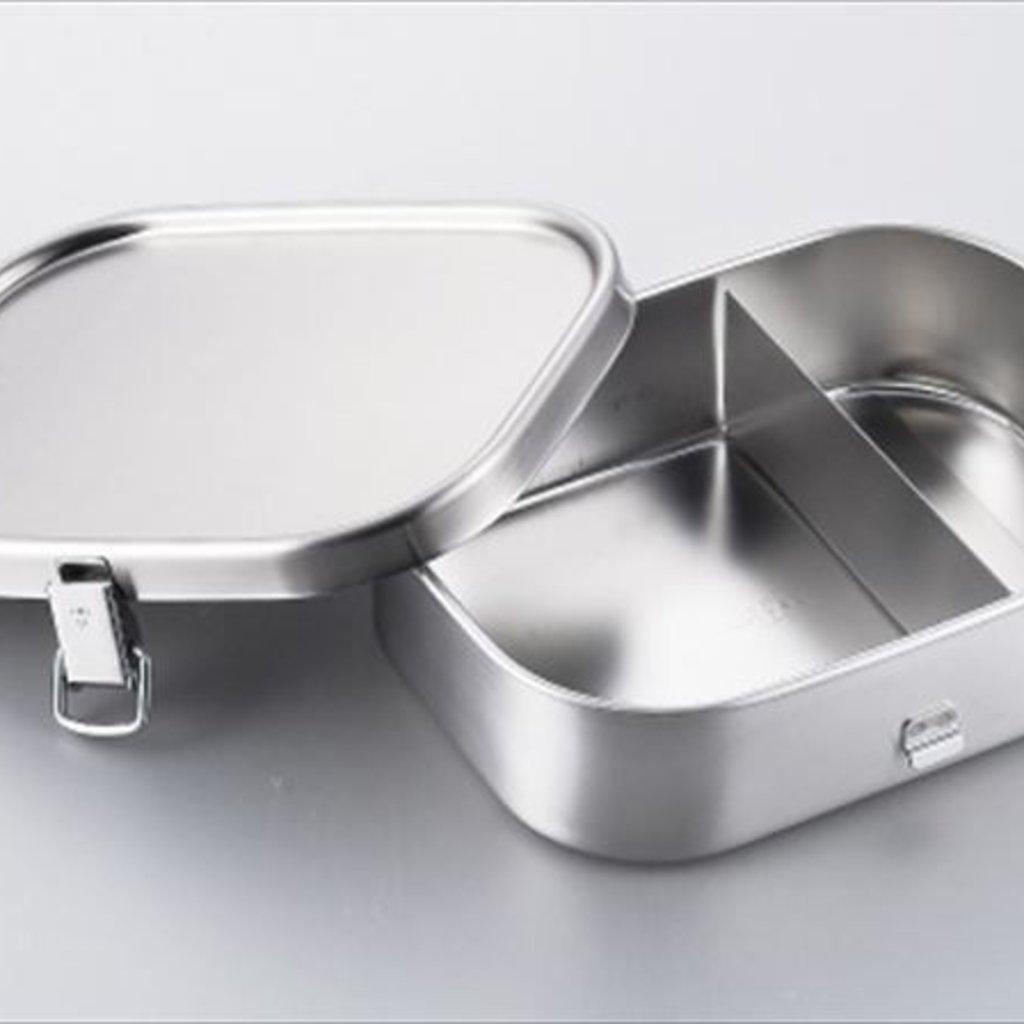 A - Boîte à Bento Inox - 670ml Carré