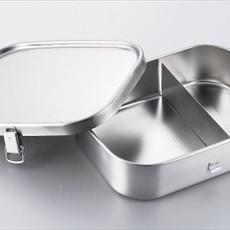 A - Boîte à Bento Inox - 1000ml Carré