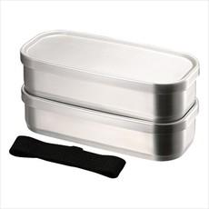 Aizawa Aizawa - Boîte à Bento Inox - 500ml x 2 Rectangle