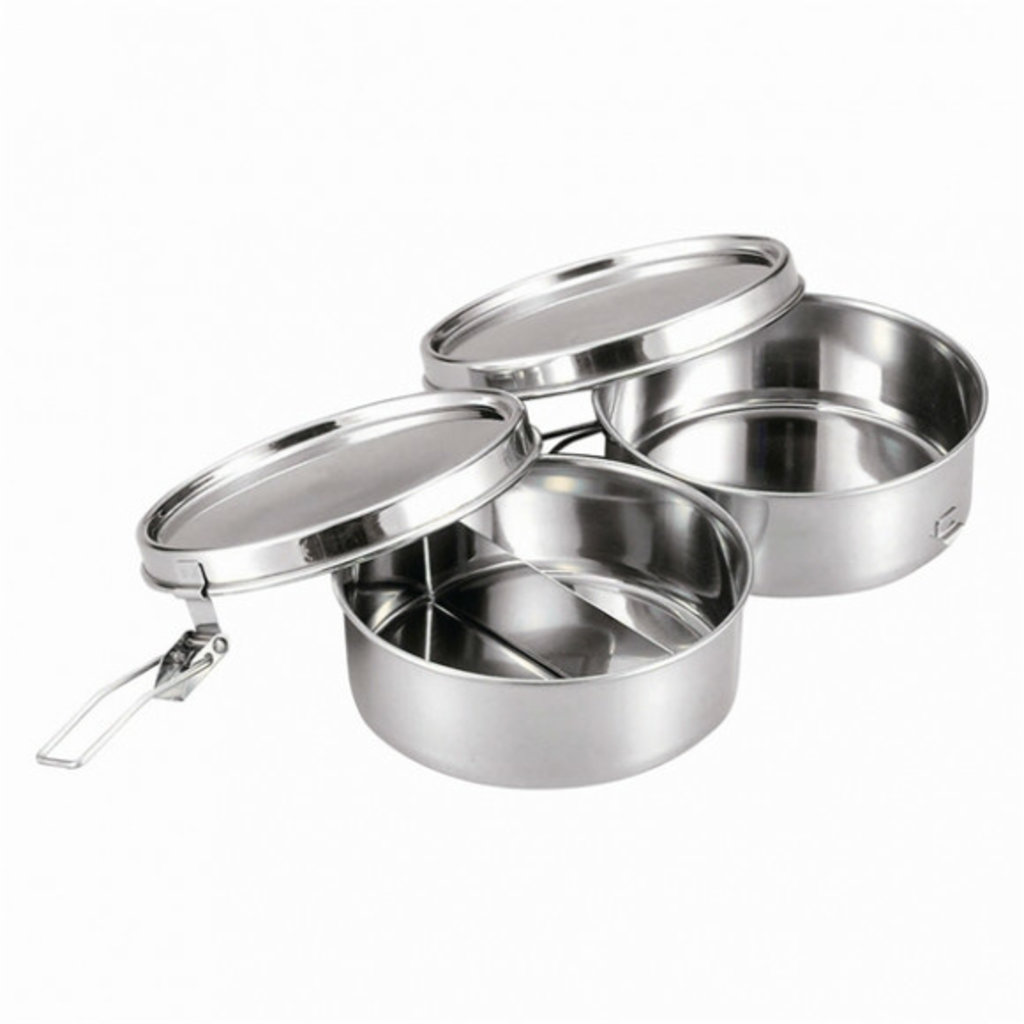 A - Stainless Steel Bento Box - 400ml x 2 Round