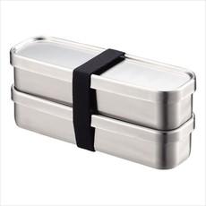 A - Stainless Steel Bento Box - 350ml x 2 Rectangular