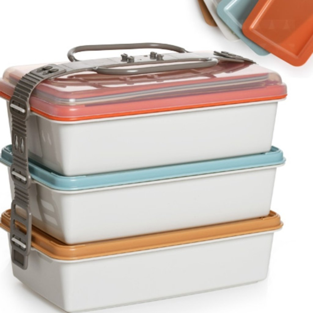 Bisque Bisque - ZL Norden - Picnic Lunch Box Set with Plates