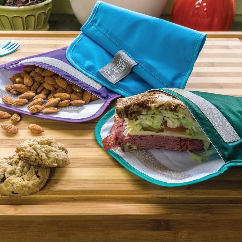 ChicoBag Ensemble de sacs à sandwich réutilisables Snacktime de CHICOBAG