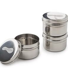 U Konserve U konserve - Stainless Steel 3 Round Mini Containers