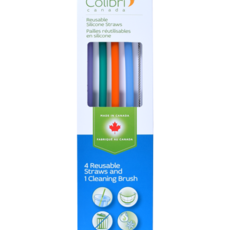 Colibri Drink - Colibri - Reusable Silicone Straw - Set of 4 + Brush