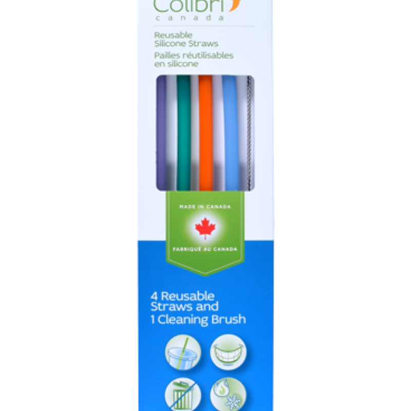 Colibri Drink - Colibri - Reusable Silicone Straw - Set of 4 + Brush