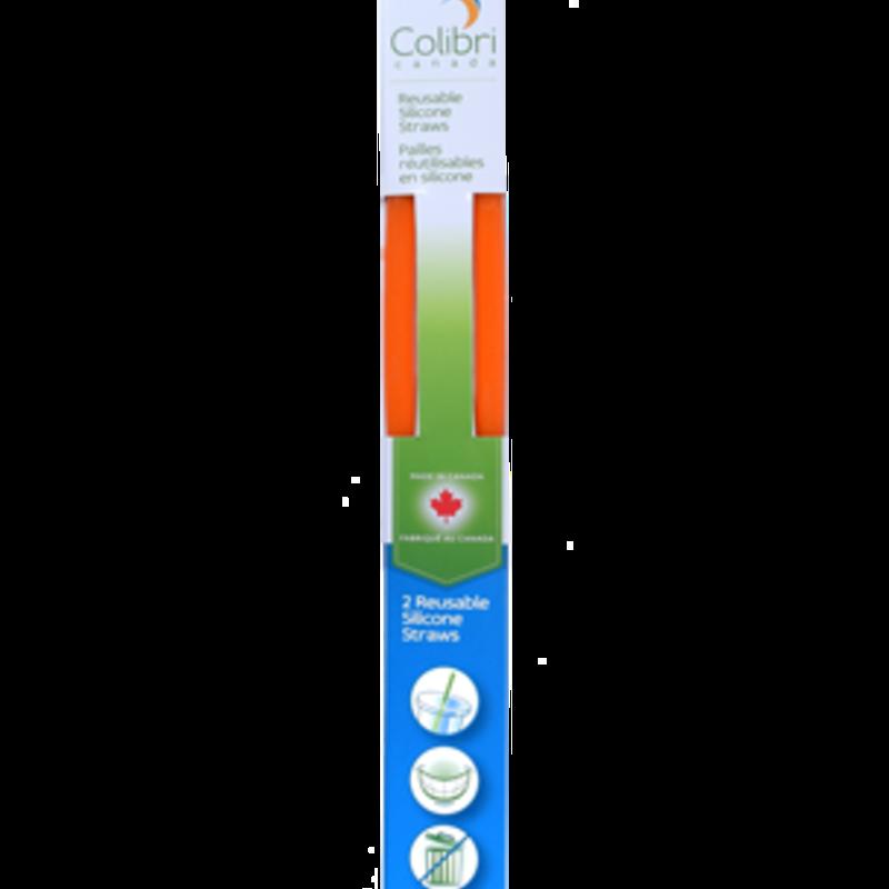 Colibri Pailles de silicone réutilisable Colibri - Paquet de 2