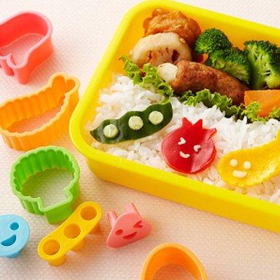 Torune Ensemble d'outils de déco pour art bento Colorful Food Cutters