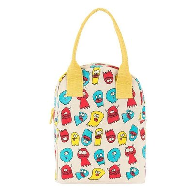 Fluf Fluf - Organic Cotton Zipper Lunch Bag - Graphic