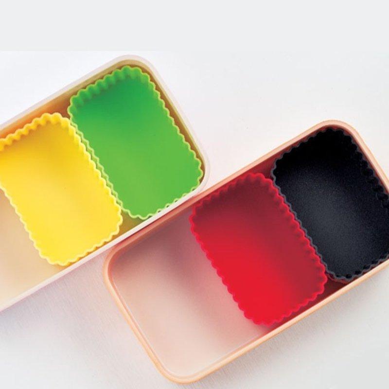 Hakoya Compartiments en silicone pour bento de HAKOYA - Paquet de 2