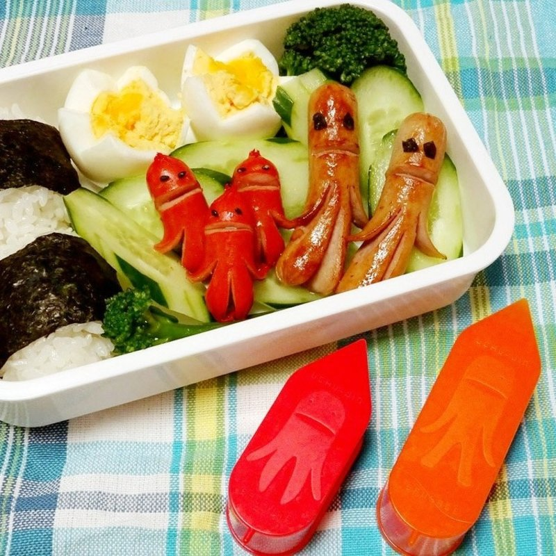Kokubo Coupe saucisses en forme d'extra-terrestres pour art bento de Kokubo