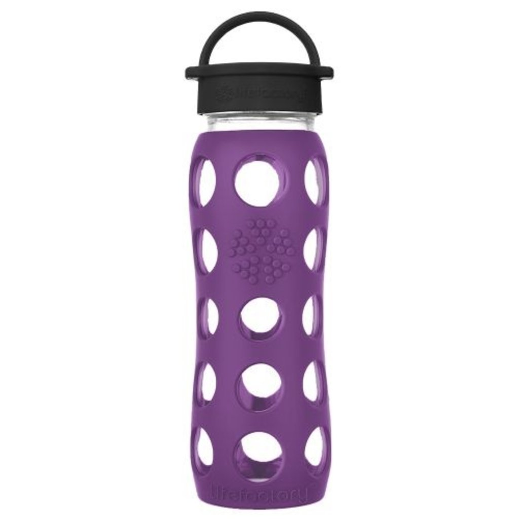 Lifefactory Drink - LifeFactory - Glass Water Bottle - Classic Cap - 650ml/22oz