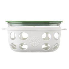 Lifefactory LifeFactory - Glass Food Storage with Silicone Sleeve - 4 cups