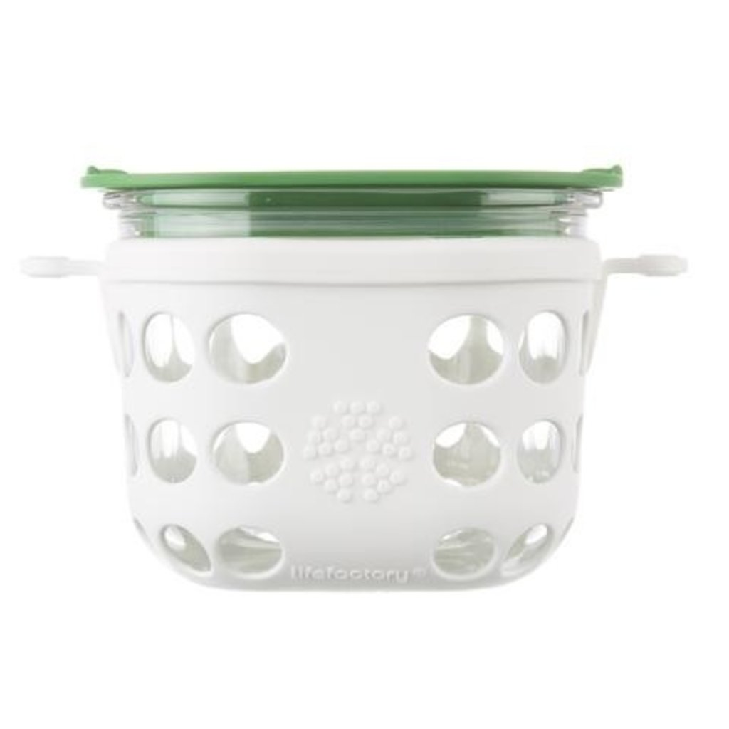 Lifefactory LifeFactory - Glass Food Storage with Silicone Sleeve - 2 cups