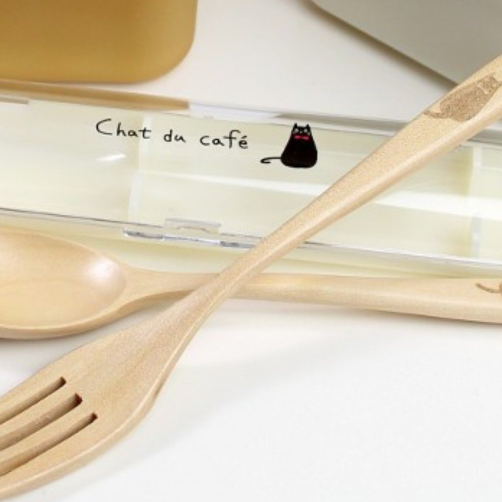 Showa Showa - Chat du Cafe - Wood Cutlery Set