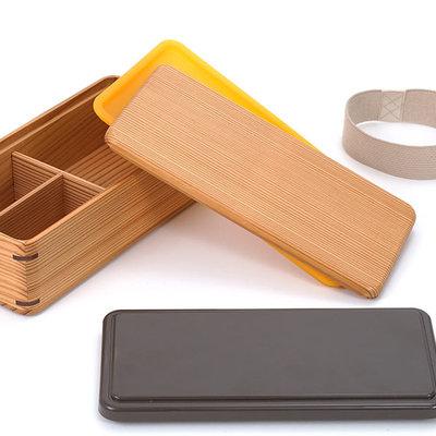 Gel Cool - Cedar Wood Bento Lunch Box