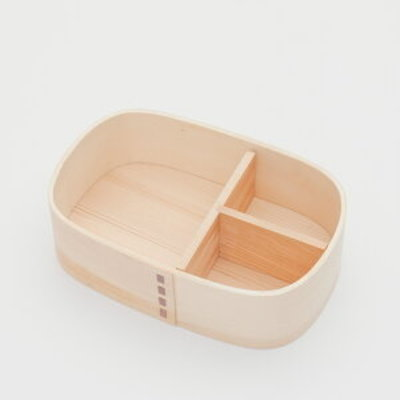 Showa Boîte bento en bois wappa Life is Beautiful
