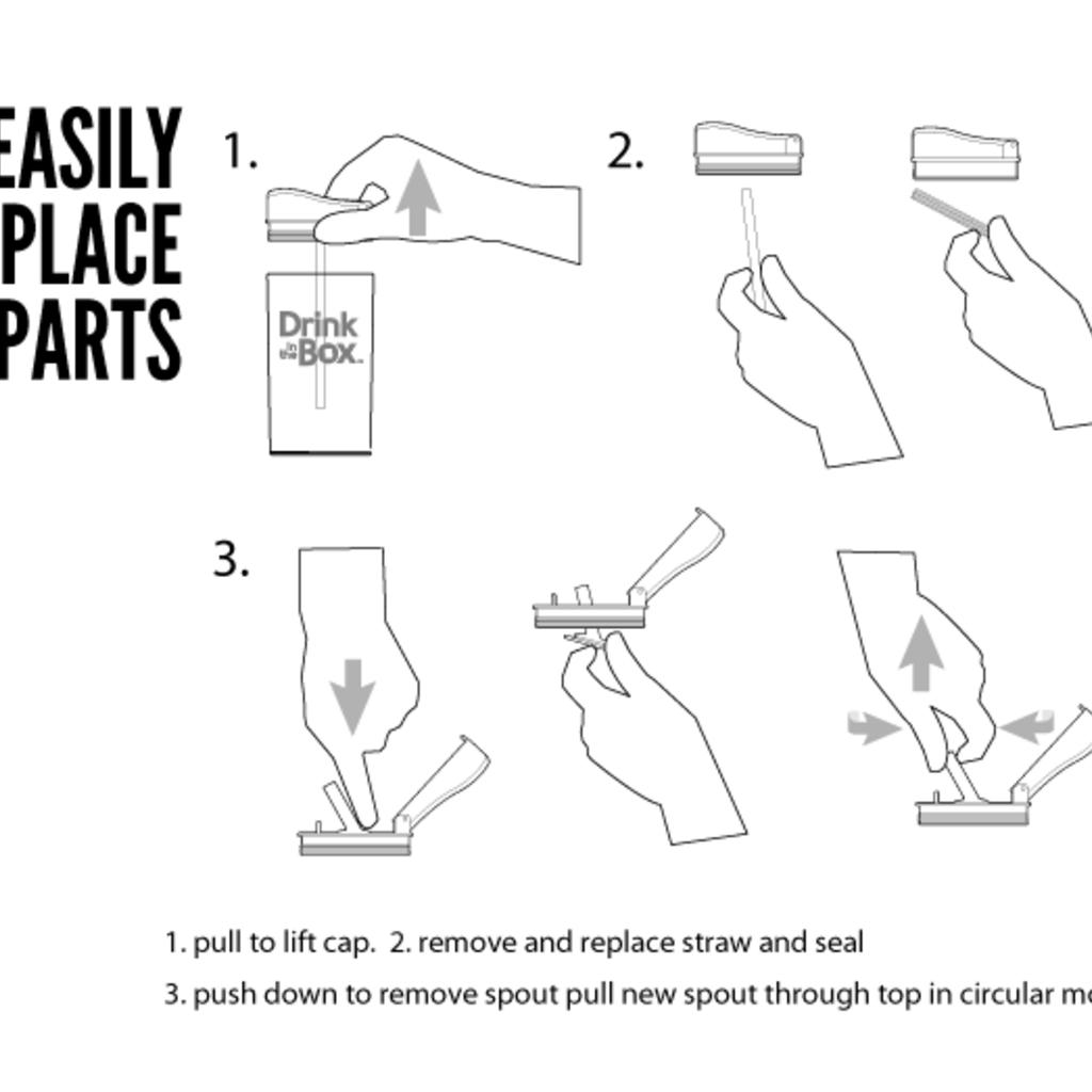 Precidio Kit de remplacement pour Drink in the Box - 240ml