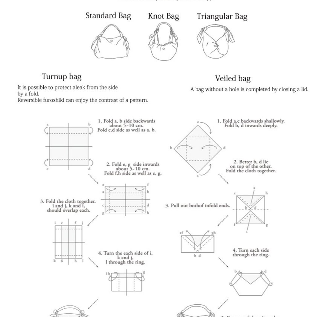 Uoak Furoshiki - Leather Handle - Medium Round w/Clip