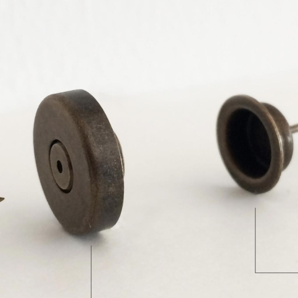 Uoak Poignée plate en cuir et clip pour furoshiki - Grande