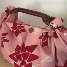 Uoak Poignée ronde en cuir et clip pour furoshiki - Petite