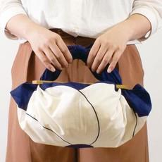 Musubi Furoshiki - Plastic handle - Patchin' Large