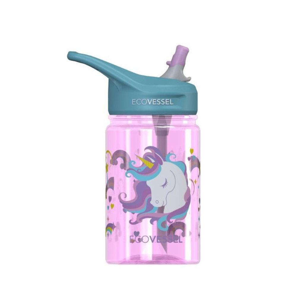 Ecovessel Bouteille avec paille Splash Kids de EcoVessel